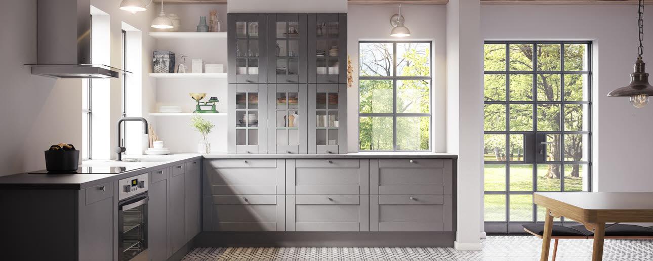 model shaker grey is a robust thermofoil kitchen door - Kitchen Door