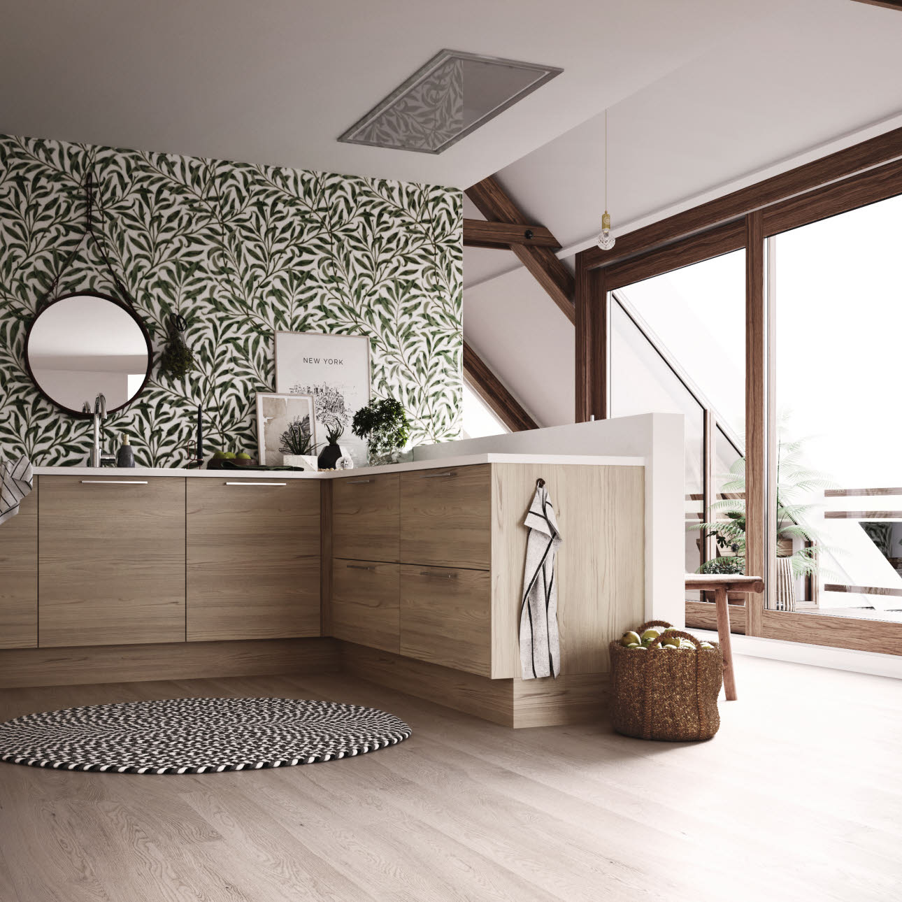 Wood Scandinavian Kitchen Model Oslo Is Wood Kitchens Hth