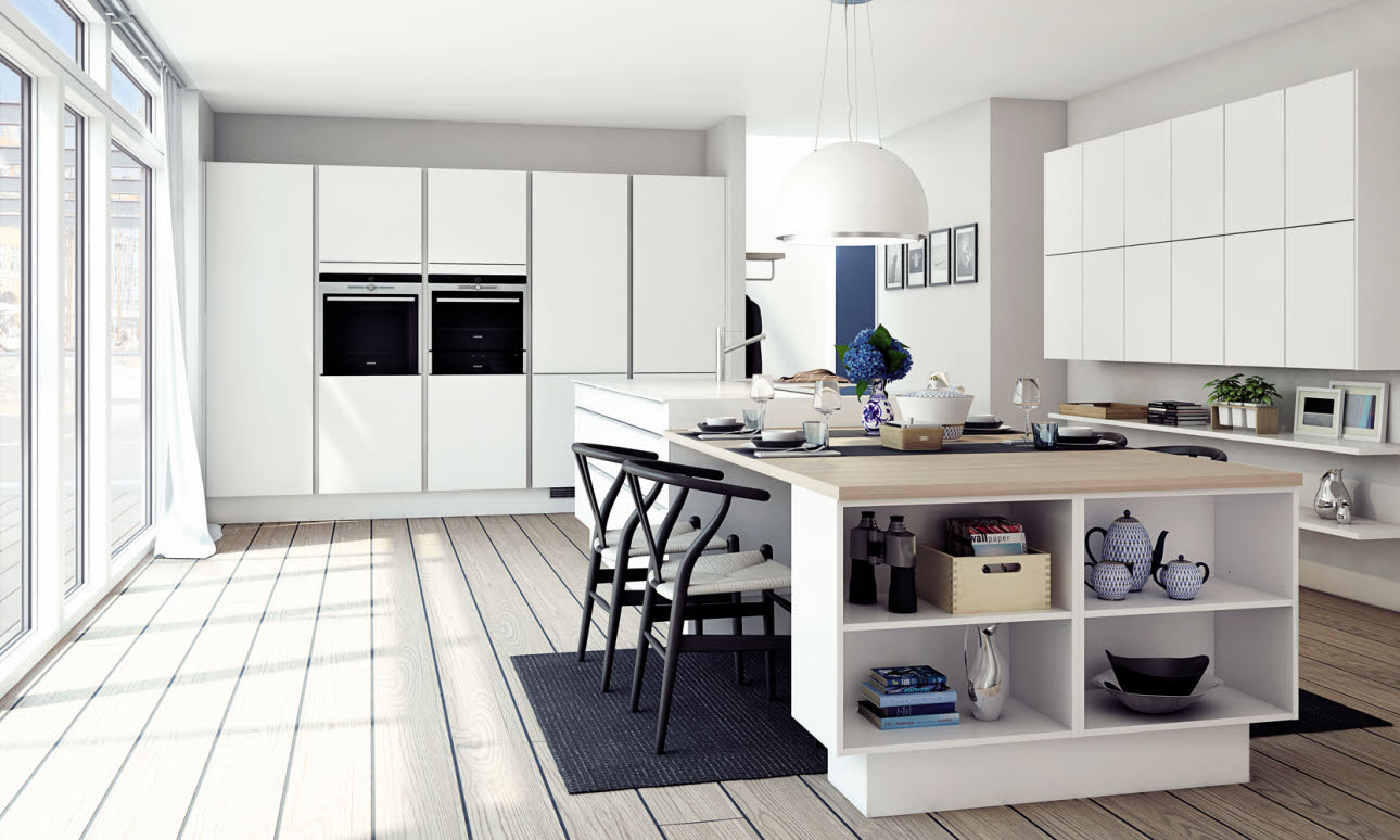 Simple kitchen design in timeless style