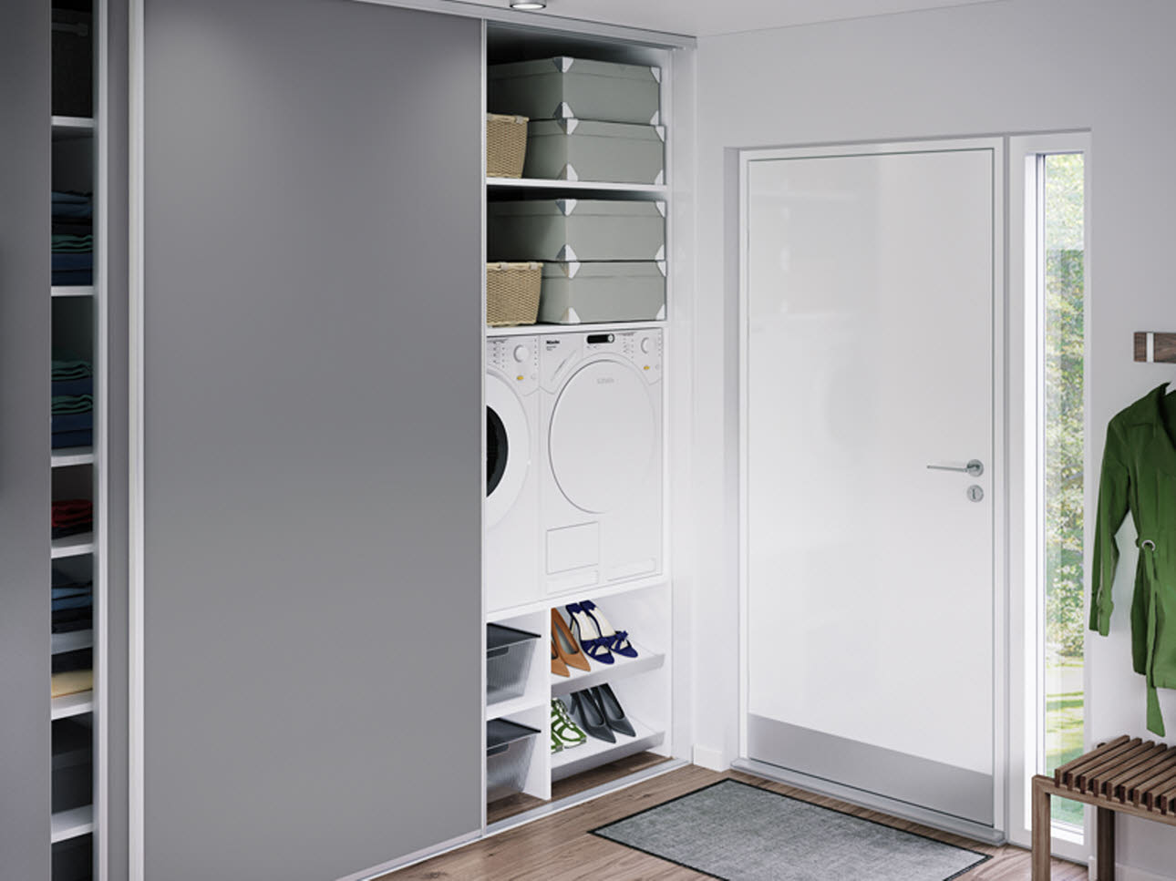 Sliding doors for Armoire couloir design