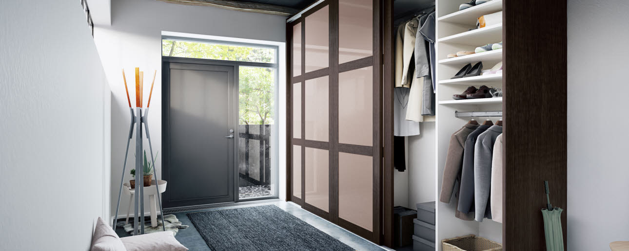 Entrance With Storage Distinctive Sliding Door Wardrobe